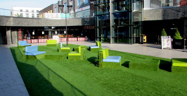 artificial grass used for breakout space